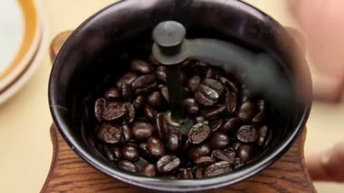 Grinding Coffee Beans — Stock Video