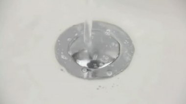Water Drains In Sink — Stock Video