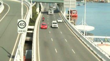 Freeway trafik — Stockvideo