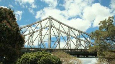 Span berättelsen bridge — Stockvideo