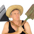 Gardener With Tools — Stock Photo