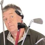Surprised Golfer — Stock Photo