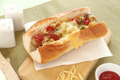 Cheese Hot Dogs — Stockfoto