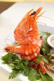 Shrimp Stack — Stock Photo