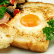 Egg Embedded In Toast — Stock Photo