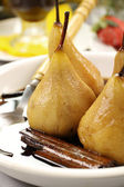 Poached Pears And Cinnamon — Stock Photo