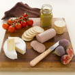 Liverwurst and Camembert — Stock Photo
