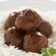 Meat Balls In Hoisin Sauce — Stock Photo