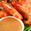 Shrimps And Dip — Stock Photo