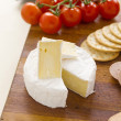 Camembert Cheese And Tomatoes — Stock Photo