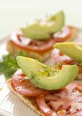 Avocado And Tomato — Stock Photo