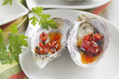 Sweet Chilli Oysters — Stock Photo