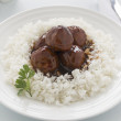 Meat Balls In Hoisin Sauce - Stock Photo