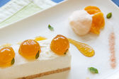 Mandarin Cheese Cake — Stock Photo