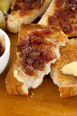 Fig Jam Toast — Stock Photo