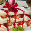 Strawberry Mille Feuilleb — Stock Photo