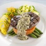 Steak And Sweet Potato — Stock Photo