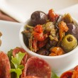Olives And Sundried Tomatoes — Stock Photo