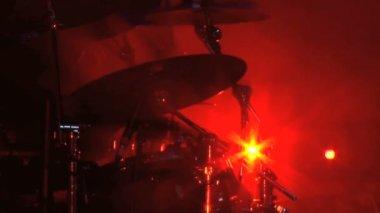 Drummer Cymbals — Stock Video
