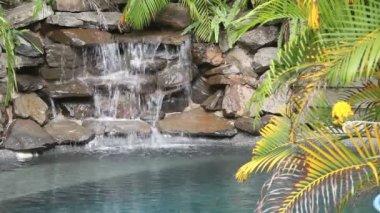 Water Falling On Rocks — Stock Video