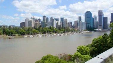 Brisbane River Pan — Vídeo de stock