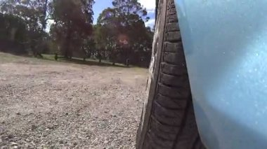 Dirt Road Wheel. — Wideo stockowe