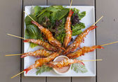 Grilled Shrimps — Stock Photo