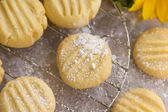 Melting moments shortbread biscuits — Stock Photo