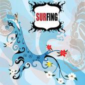Surfing drop — Stock Vector