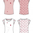 Foto Stock: Apparel template fruit theme
