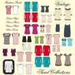 Foto Stock: Apparel template all in one