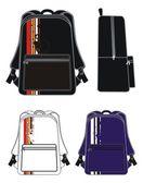 Bag art template pack — Stock Photo