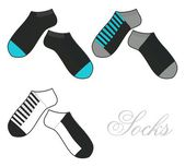 Socks template short theme — Stock Photo