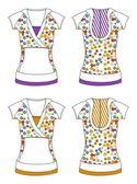 Art apparel editable pattern flower — Stock Photo