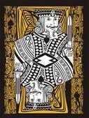 The king of poker king — Stock Vector