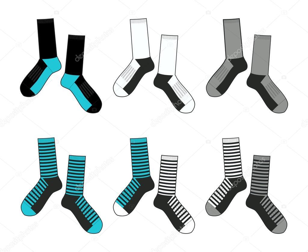 Socks template rough — Stock Vector © chandrabhendot #13377888