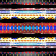 Native american pattern black line — Stock Photo