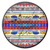 Native american pattern circle — Stock Photo