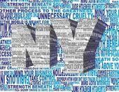 Text letter art new york — Stockfoto