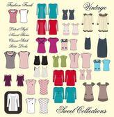 Girl apparel design — Stock Photo