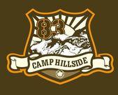 Camping gráfico de etiqueta — Foto de Stock