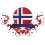 Flag national button web — Stock Photo