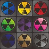 Nuclear sign art ray — Stock Photo