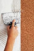 Kabuğu kuru tutkal yapıştırma duvar kağıdı için — Stok fotoğraf