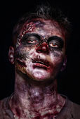 Portrait of scary zombie — Stock Photo