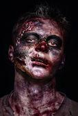 Retrato de terror zombie — Foto de Stock