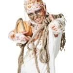 Mumia jest thumbup w studio — Zdjęcie stockowe