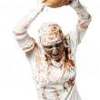 a múmia está segurando a abóbora — Foto Stock