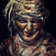 Portrait of scary mummy — Stock Photo