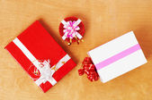 Beautiful presents in the table — Stock Photo